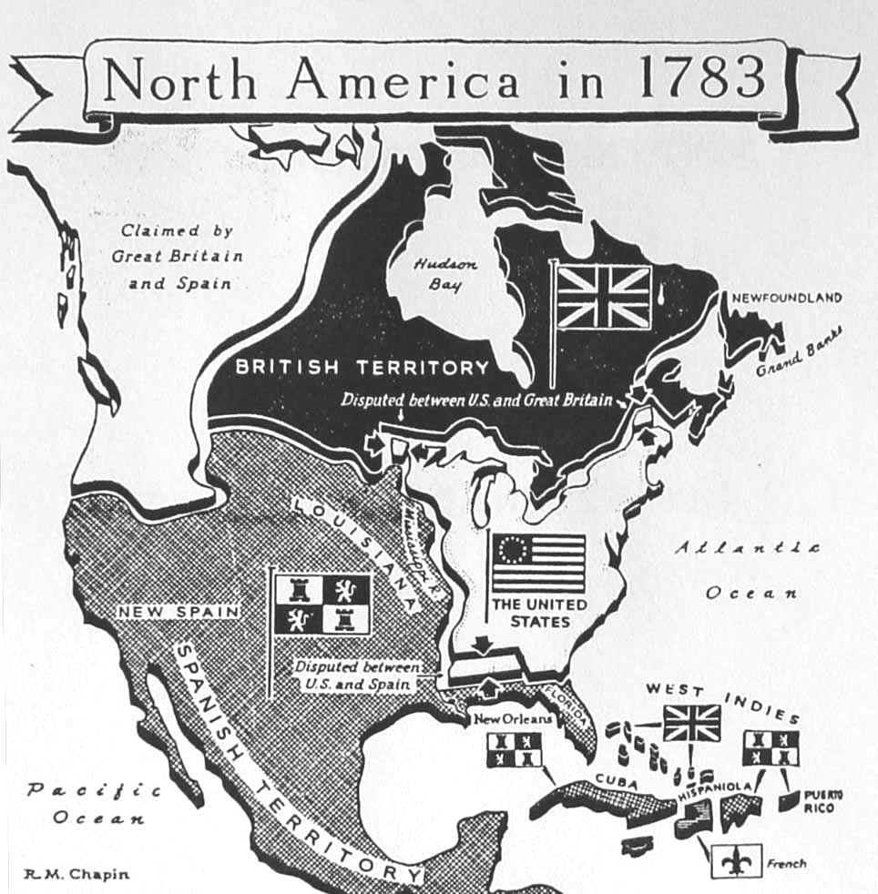 Maps Us East Coast Map United States - Us map 1783 blank