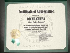 Somos primos dedicated to hispanic heritage and diversity issues certificate of appreciation yadclub Choice Image