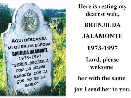 These are actual gravesites in Mexico. Sent by Pablo Trejo  PGBlueCoat@aol.com
