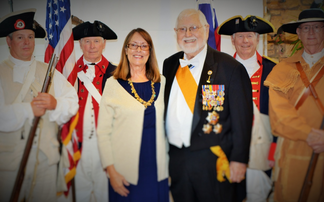 Somos primos judge ed butler and wife robin with the san antonio sar color guard fandeluxe Images