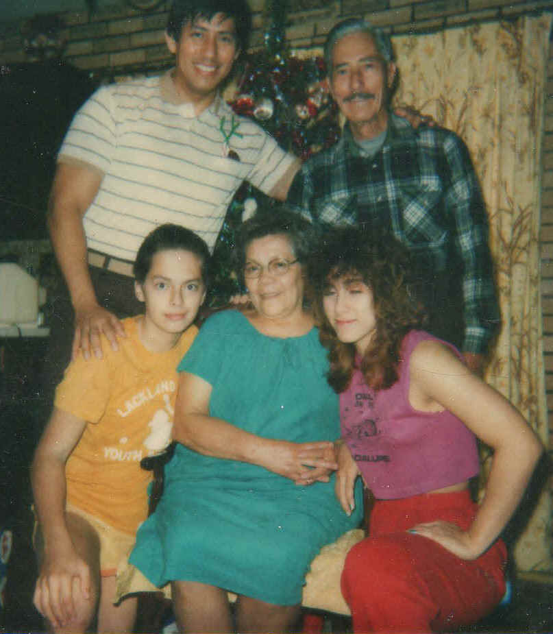 Somos primos i am standing next to my dad and my madrecita is surrounded by two grandchildren fandeluxe Images
