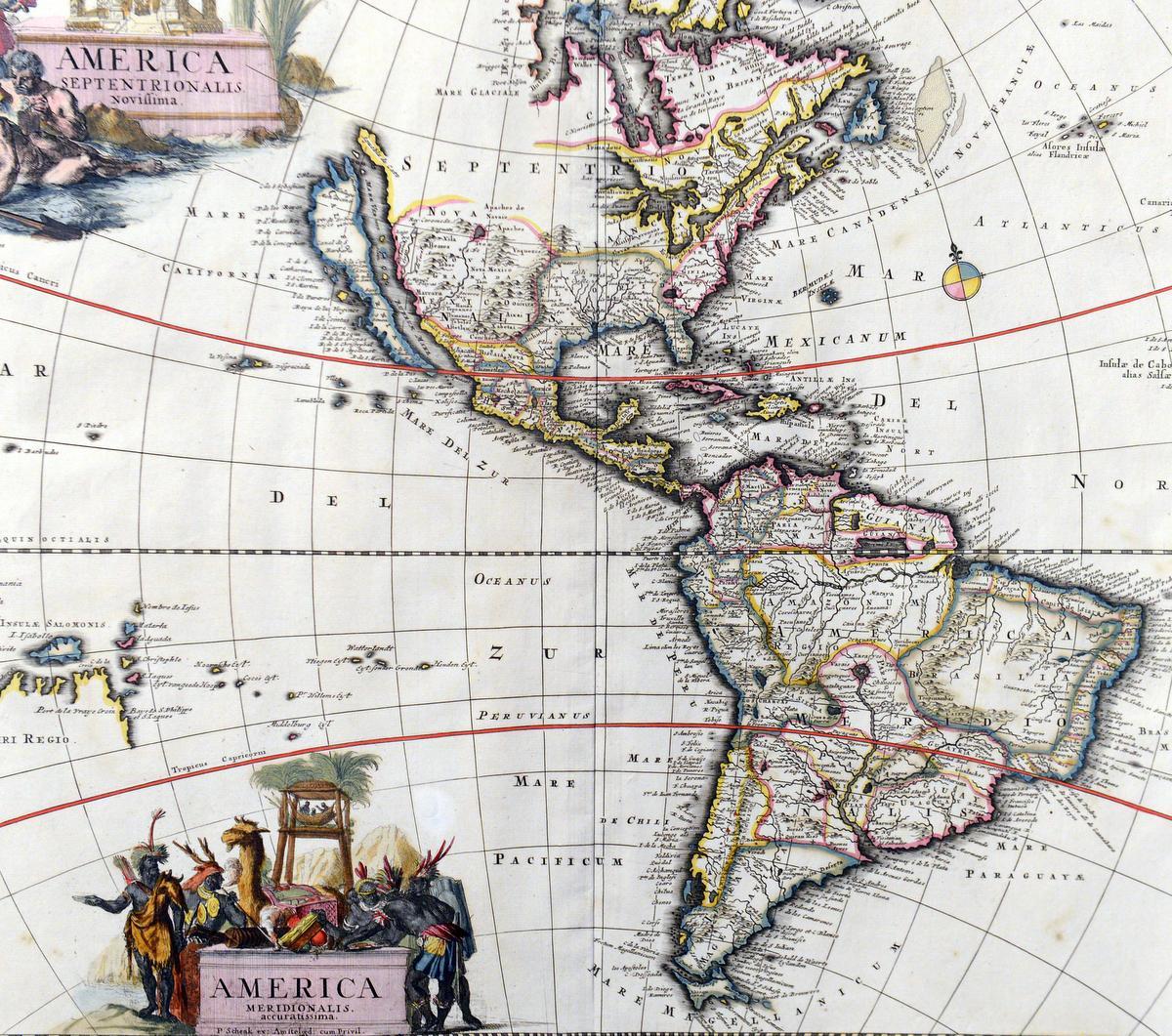 Somos Primos De La Pgina Cesar Flores On Gfci Internal Wiring Diagram The Maps Walls Show A World Where California Is An Island Some Sea Monsters Roaming Oceans