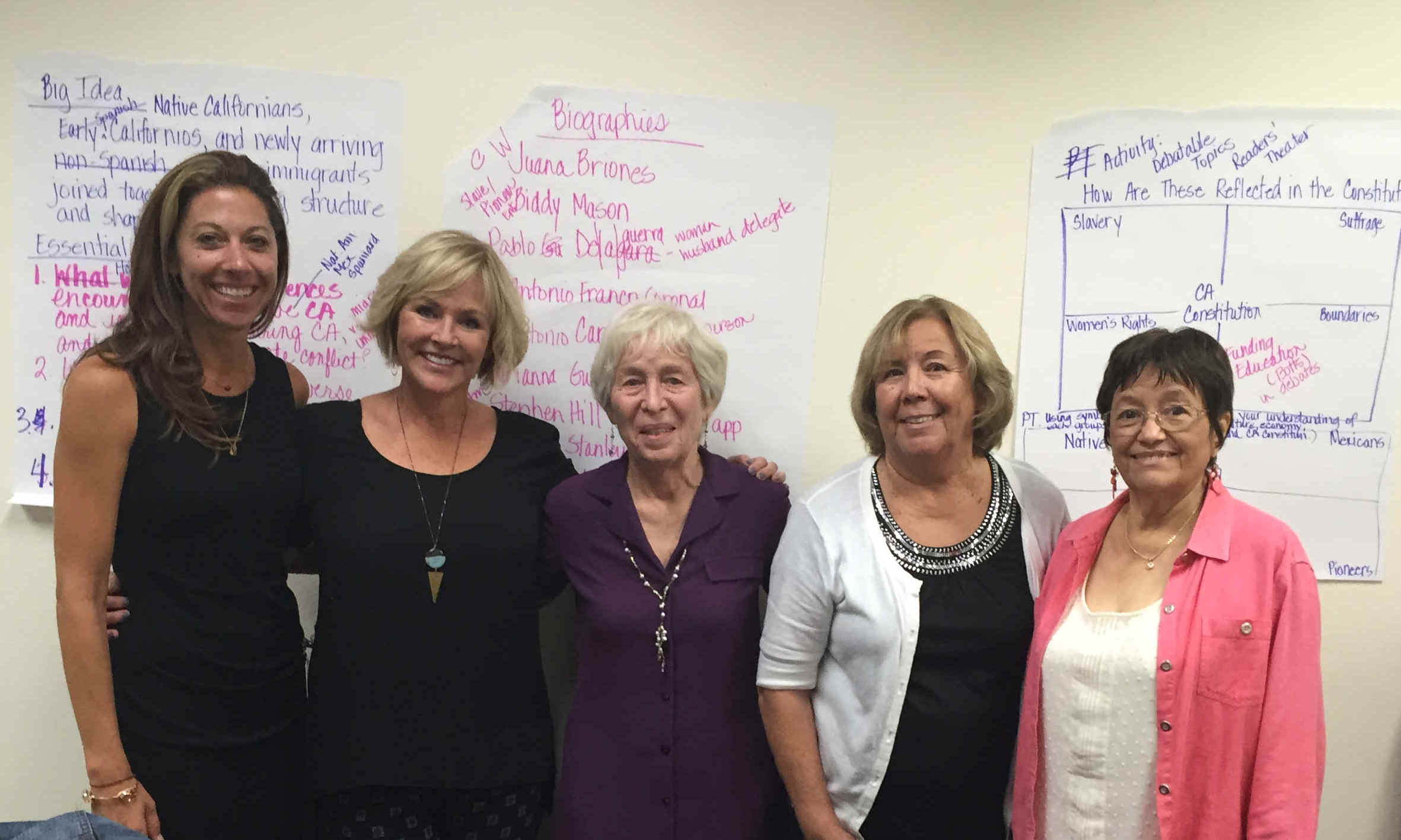 October 2015 california constitution committee lt rt jennifer woods and marta moyer santa ana unified school district mimi lozano virginia gill and letty rodella fandeluxe Gallery